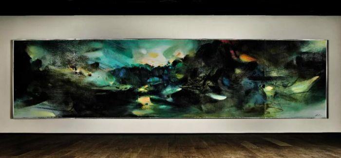 朱德群诞辰一百周年 《自然颂》领拍现代艺术晚拍
