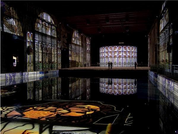 再现克里姆特与保罗·克利,二战潜艇基地变身最大数字展馆