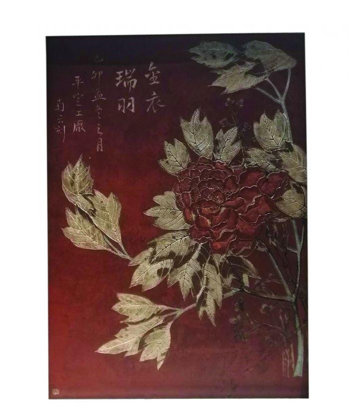 """民国紫砂""""富贵寿考""""插屏1"""