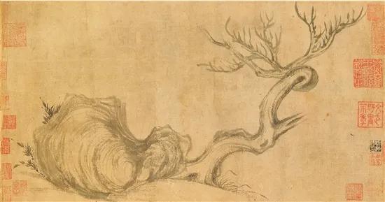 苏轼 枯木怪石图
