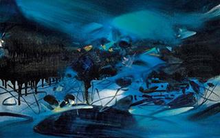 朱德群代表作《第195号 春临之际》登陆香港秋拍