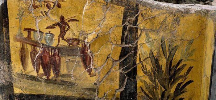 庞贝古城遗址新挖掘一处彩色壁画 | 一周艺事