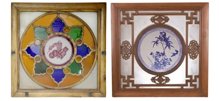 广州博物馆藏广式彩色玻璃窗展开幕