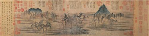 图1 元赵孟頫《鹊华秋色》,台北故宫博物院藏-_副本