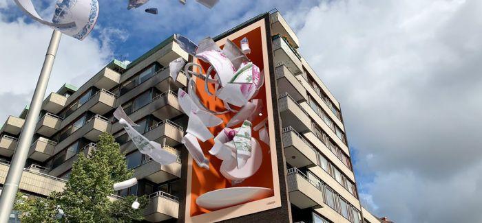 """超现实3D壁画 让茶杯""""飞起来"""""""
