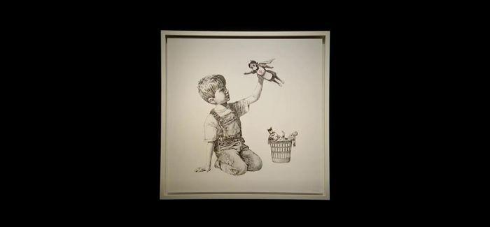 班克斯画作拍出1675万英镑 捐给卫生机构