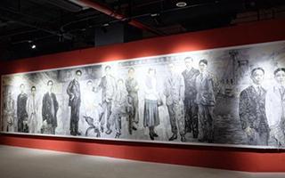 国画长卷《求索》展出 展现红色上海百年风貌