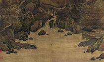 古代书画中的秋山红树